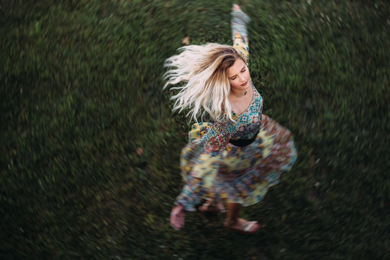 Children and Senior Photography, senior girl twirling in a dress