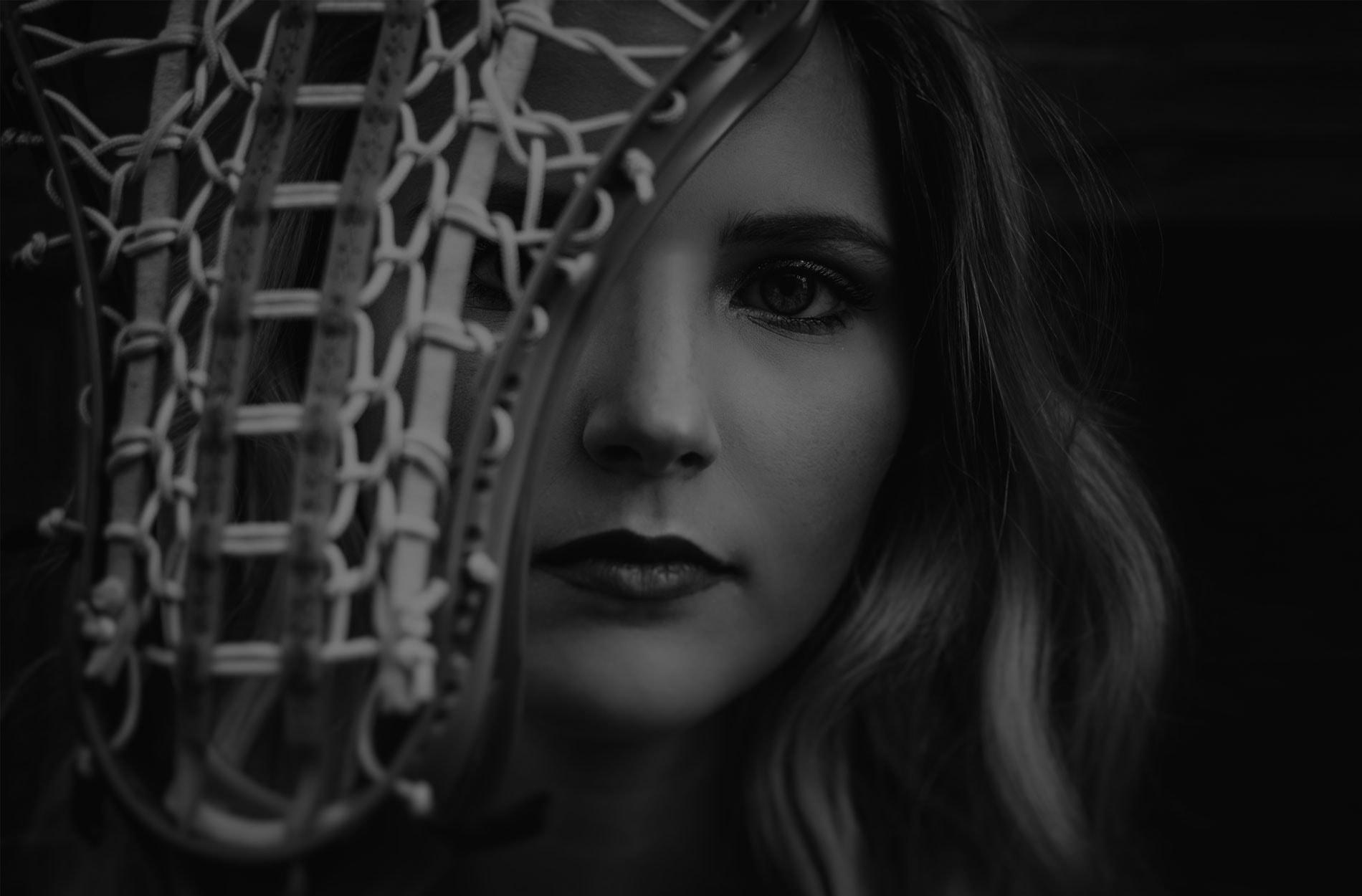 Senior Photography, Female lacrosse player