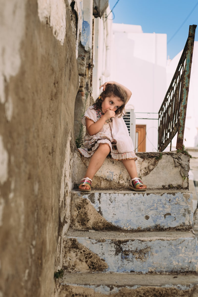 Children and Senior Photography, little girl sitting on steps